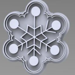 COPO.PNG Download STL file snowflake Christmas cutter • Object to 3D print, ideas3djrz