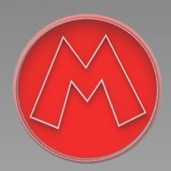 M.PNG Télécharger fichier STL M mario bros moule à biscuit • Modèle à imprimer en 3D, ideas3djrz