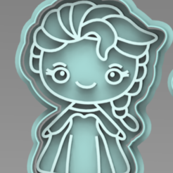 ELSA.PNG Download STL file ELSA FROZEN CUTTER • 3D printer object, ideas3djrz