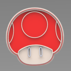 HONGUITO.PNG Download STL file Mario Bros. Mushroom Cookie Cutter • 3D print object, ideas3djrz
