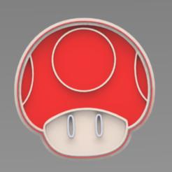 HONGUITO.PNG Télécharger fichier STL Coupeuse de biscuits aux champignons Mario Bros. • Plan pour imprimante 3D, ideas3djrz