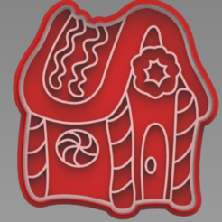 CASA DULCES.PNG Download free STL file gingerbread house cookie cutter • 3D printing design, ideas3djrz
