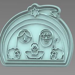 NACIMIENTO 15 CM.PNG Télécharger fichier STL Naissance de l'emporte-pièce de Noël • Design imprimable en 3D, ideas3djrz