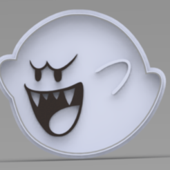FANTASMA.PNG Download STL file Boo mario bros cookie cutter • 3D printing design, ideas3djrz