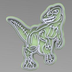 1.PNG Download STL file CUTTER + DINOSAURUS MARKER • 3D printer model, ideas3djrz