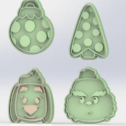 GRICH 8 CM.PNG Download free STL file GRINCH CUTTER SET • Template to 3D print, ideas3djrz