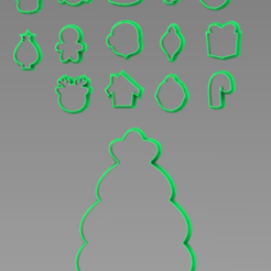 decora tu pino.PNG Download free STL file cookie cutters decorate your christmas tree • 3D print model, ideas3djrz