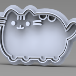 GATINI.PNG Download STL file PUSSHEN CAT COOKIE CUTTER • 3D print object, ideas3djrz