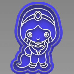 127243799_388905058983054_53916215630158264_n.png Download STL file Jasmine Aladin Cookie Cutter • 3D print design, ideas3djrz