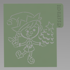 duende.PNG Download free STL file CHRISTMAS SET STENCILS • Object to 3D print, ideas3djrz