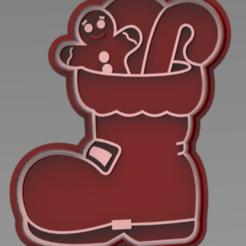 BOTA SANTA.PNG Download free STL file cutter + cookie cutter marker christmas boot • 3D printing design, ideas3djrz
