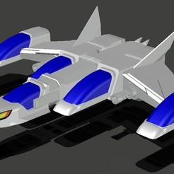 Silverhawk nave foto.jpg Download STL file The Galactic Falcons' ship (Silverhawks) • 3D printer design, wolfiy3d