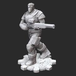 BairdG2White.jpg Download STL file Damon Baird Winter Gears of War 3D Model STL File 3D Print • 3D printable object, TheSTLSmith