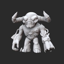 TyrantWhite.jpg Download STL file Tyrant Doom Collectable Toy • 3D printing design, TheSTLSmith