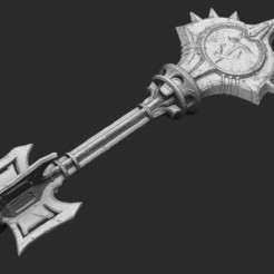 Slayer_Key_01.jpg Download STL file Slayer Key Doom Eternal Cosplay Life Size • 3D printable template, TheSTLSmith