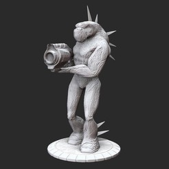 ZorgSoldierPosedWhite.jpg Download STL file Zorg Soldier Serious Sam HD 3D Model STL File 3D Print • 3D printing model, TheSTLSmith