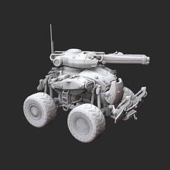 COGCentaurWhite.jpg Download STL file Centaur Tank Gears of War 3D Model STL File 3D Print • 3D printer object, TheSTLSmith