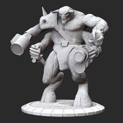 UghzanPosedWhite.jpg Download STL file Ughzan III Serious Sam HD 3D Model STL File 3D Print • 3D printing model, TheSTLSmith