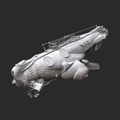 CNVAdamantWhite.jpg Download STL file CNV Adamant Submarine Gears of War 3D Model STL File 3D Print • 3D printing design, TheSTLSmith