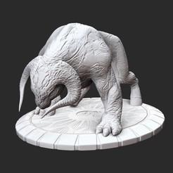 WerebullPosedWhite.jpg Download STL file Werebull Serious Sam 3 3D Model STL File 3D Print • 3D print object, TheSTLSmith