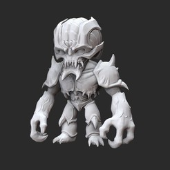 ArchvileWhite.jpg Télécharger fichier STL Jouet de collection Archvile Doom • Plan pour imprimante 3D, TheSTLSmith