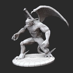 DemonPosedWhite.jpg Download STL file Demon Serious Sam HD 3D Model STL File 3D Print • Design to 3D print, TheSTLSmith
