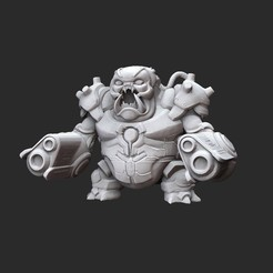 MancubusGooWhite.jpg Download STL file Cyber Mancubus Doom Collectable Toy • 3D printable design, TheSTLSmith