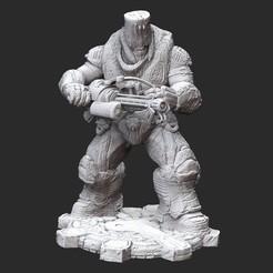 BoomerGrinderWhite.jpg Download STL file Boomer Grinder Gears of War 3D Model STL File 3D Print • 3D printable model, TheSTLSmith