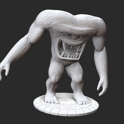 GnaarPosedWhite.jpg Download STL file Gnaar Serious Sam HD 3D Model STL File 3D Print • Object to 3D print, TheSTLSmith