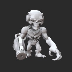 ZombieTier3White.jpg Download STL file Mech Zombie Doom Collectable Toy • 3D printing template, TheSTLSmith