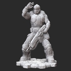 ClaytonCarmineWhite.jpg Download STL file Clayton Carmine Summer Gears of War 3D Model STL File 3D Print • Template to 3D print, TheSTLSmith