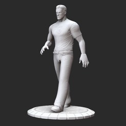 SeriousSamPosedWhite.jpg Download STL file Serious Sam Stone Serious Sam HD 3D Model STL File 3D Print • 3D print template, TheSTLSmith
