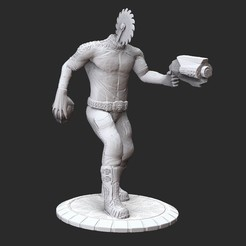 BeheadedRocketmanPosedWhite.jpg Download STL file Beheaded Rocketman Serious Sam HD 3D Model STL File 3D Print • Model to 3D print, TheSTLSmith