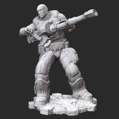 ColeWhite.jpg Download STL file Augustus Cole Summer Gears of War 3D Model STL File 3D Print • 3D printable template, TheSTLSmith