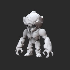 ProwlerWhite.jpg Download STL file Prowler Doom Collectable Toy • 3D printing template, TheSTLSmith