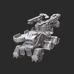 DerrickNoUnionWhite.jpg Download STL file Derrick Platform Gears of War 3D Model STL File 3D Print • 3D printer model, TheSTLSmith