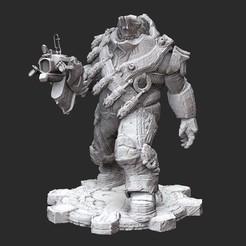 SavageBoomerWhite.jpg Download STL file Savage Boomer Gears of War 3D Model STL File 3D Print • 3D printing design, TheSTLSmith