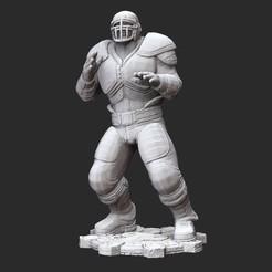ColeThrashWhite.jpg Download STL file Augustus Cole Thrashball Gears of War 3D Model STL File 3D Print • Design to 3D print, TheSTLSmith