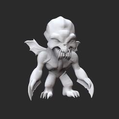 GargoyleWhite.jpg Download STL file Gargoyle Doom Collectable Toy • 3D printer template, TheSTLSmith