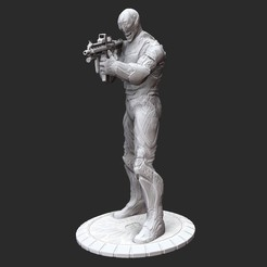 SoldierPosedWhite.jpg Download STL file Cloned Soldier Serious Sam 3 3D Model STL File 3D Print • 3D printing template, TheSTLSmith