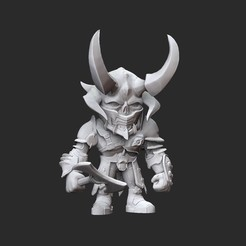MarauderWhite.jpg Download STL file Marauder Doom Collectable Toy • 3D printing model, TheSTLSmith