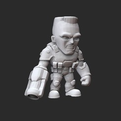SoldierWhite.jpg Download STL file Soldier Doom Collectable Toy • 3D printing design, TheSTLSmith