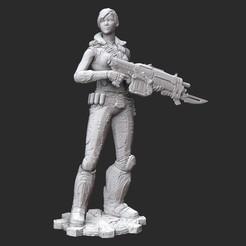 AlexWhite.jpg Download STL file Alex Brand Gears of War 3D Model STL File 3D Print • 3D printing object, TheSTLSmith