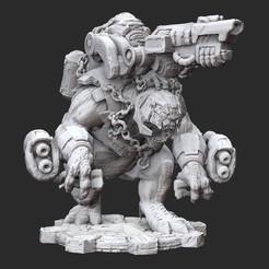 BrumakWhite.jpg Download STL file Brumak Gears of War 3D Model STL File 3D Print • Template to 3D print, TheSTLSmith