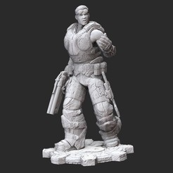 BairdWhite.jpg Download STL file Damon Baird Summer Gears of War 3D Model STL File 3D Print • 3D printable object, TheSTLSmith