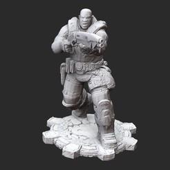 ColeG2White.jpg Download STL file Augustus Cole Winter Gears of War 3D Model STL File 3D Print • 3D printable template, TheSTLSmith