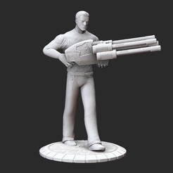 SeriousSamLaserPosedWhite.jpg Download STL file Serious Sam with Laser Serious Sam HD 3D Model STL File 3D Print • 3D printable design, TheSTLSmith