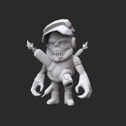 CueballWhite.jpg Télécharger fichier STL Jouet de collection Cueball Doom • Modèle à imprimer en 3D, TheSTLSmith