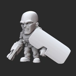 SoldierShieldWhite.jpg Download STL file Shield Soldier Doom Collectable Toy • 3D print model, TheSTLSmith