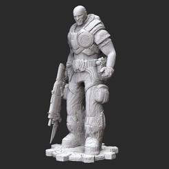 AdamSoldierWhite.jpg Download STL file Adam Fenix Soldier Gears of War 3D Model STL File 3D Print • 3D printing design, TheSTLSmith